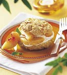 peaches and cream shortcakes with cornmeal-orange biscuits picture