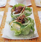 crispy shredded duck and noodle salad picture