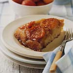 fresh apricot upside-down cake picture