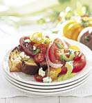 heirloom tomato salad with blue cheese picture