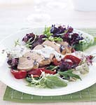 chicken with tarragon-caper sauce with mixed greens picture