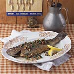 panfried trout with pecan butter sauce picture