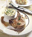 roasted pork chops with serrano ham vinaigrette picture