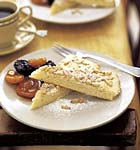 pine nut torta with marsala-poached autumn fruit picture