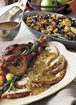roast turkey with prosciutto-hazelnut crust picture