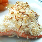 Baked Salmon with Coconut Crust picture