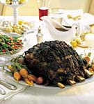 standing rib roast with rosemary-thyme crust picture