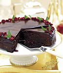 chocolate-cranberry torte picture