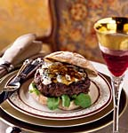 porcini-gorgonzola burgers with veal demi-glace picture