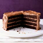 chocolate layer cake with milk chocolate frosting picture