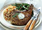 veal chops with rosemary butter picture