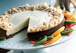 tropical cheesecake with coconut shortbread crust picture