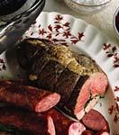 herb-stuffed leg of lamb picture