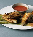grilled halibut with lemongrass tomato sauce picture