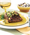 grilled mahi-mahi with avocado-melon salsa picture