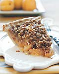 apricot pie with candied ginger and crunchy topping picture