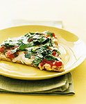 margherita pizza with arugula picture