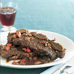 coffee-braised short ribs with ancho chile picture