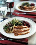 herb-brined turkey with pear gravy picture