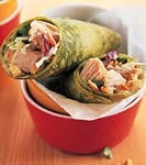 turkey wraps with curry-chutney mayonnaise and peanuts picture