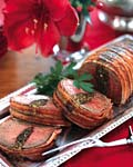 bacon-wrapped beef tenderloin with herb stuffing picture