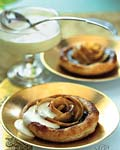 spiced sugarplum and caramelized apple tartlets with calvados cream picture