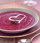 roasted beet soup with creme fraiche picture