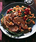 wine-braised leg of lamb with garlic picture
