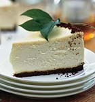 lemon cheesecake with gingersnap crust picture