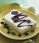 mint-truffle ice cream terrine with mint and chocolate sauces picture