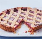 raspberry almond lattice tart picture