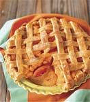 peach lattice pie picture