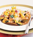 grilled fish tostadas with pineapple-jicama salsa picture