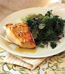 sauteed black cod with shallot-lemon viniagrette and fresh herb salad picture