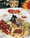 summer fruit with praline fondue picture