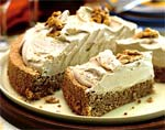 walnut torte with coffee whipped cream picture