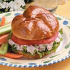 barbecued chicken salad sandwiches picture
