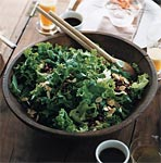 green leaf lettuce, pomegranate, and almond salad picture