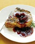 pork chops with cranberry, port, and rosemary sauce picture