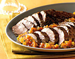 roasted pork tenderloin with kumquat-jalapeno marmalade picture