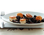 sea scallops with mushrooms and sherry picture