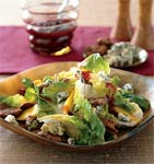 bibb lettuce salad with persimmons and candied pecans picture