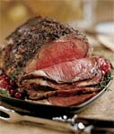 standing rib roast with porcini and bacon sauce picture