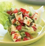 spicy lime and herbed tofu in lettuce cups picture