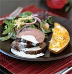 roast beef tenderloin with wasabi-garlic cream picture