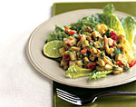 turkey chopped salad with spicy avocado dressing picture