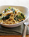 spaghettini with spicy escarole and pecorino romano picture