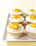 white chocolate cupcakes with candied kumquats picture
