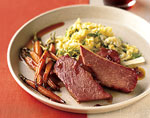 corned beef and carrots with marmalade-whiskey glaze picture