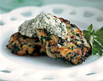herbed fish cakes with green horseradish sauce picture